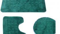 комплект за баня 3 части: правоъгълно килимче 55/90см. -1бр.; U-образно килимче 55/44см. -1бр. и стандартно килимче със шнур за капак на тоалетна чиния;