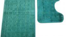 комплект за баня 2 части: правоъгълно килимче 50/80см. -1 бр. и U - образно килимче 50/38см. -1бр. за пред тоалетна чиния;