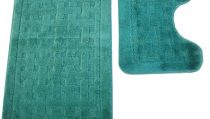 комплект за баня 2 части: правоъгълно килимче 55/90см. -1бр. и U-образно килимче 55/44см. -1бр. за пред тоалетна чиния;